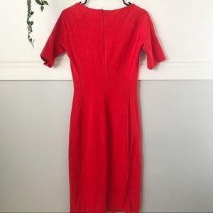Zara Woman Red Bodycon Midi Dress
